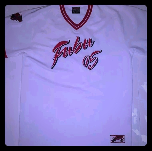 Fubu Sports 05 Jersey The Collection Short Sleeve Size Xl White Wide Selection; Men's Clothing